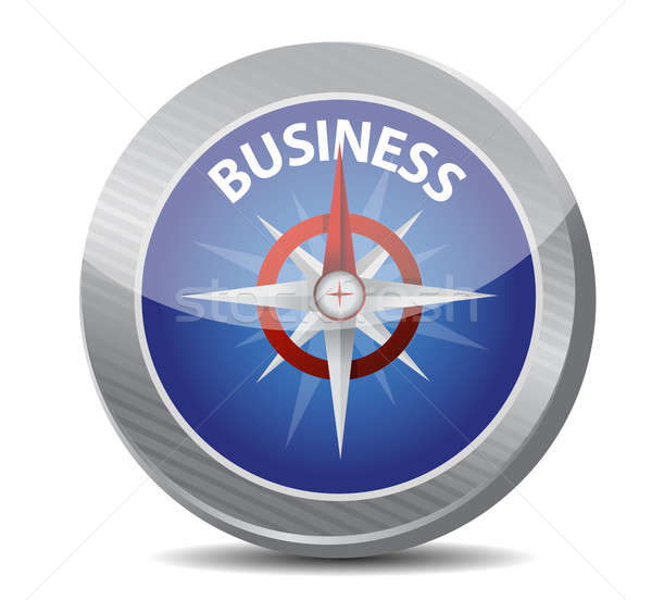 Guide to great business. compass illustration  Stock photo © alexmillos