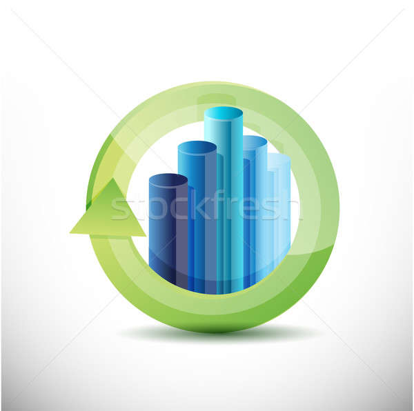 Business cycle illustration design  Stock photo © alexmillos