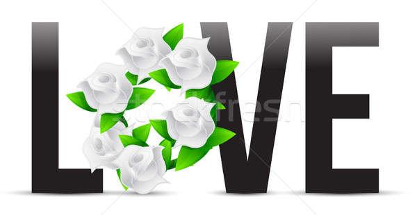 Sevmek çiçekler örnek tasarımlar çiçek soyut Stok fotoğraf © alexmillos