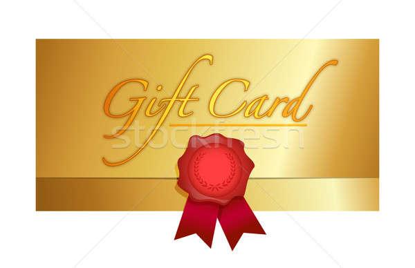Luxury gift certificate illustration design  Stock photo © alexmillos