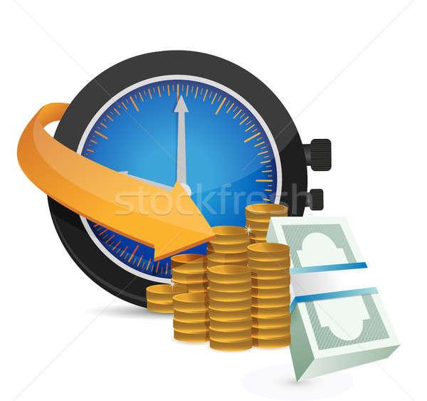 Il tempo è denaro illustrazione design bianco business clock Foto d'archivio © alexmillos