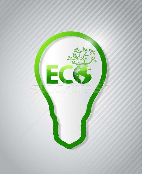 Temiz enerji eco örnek dizayn grafik yeşil Stok fotoğraf © alexmillos