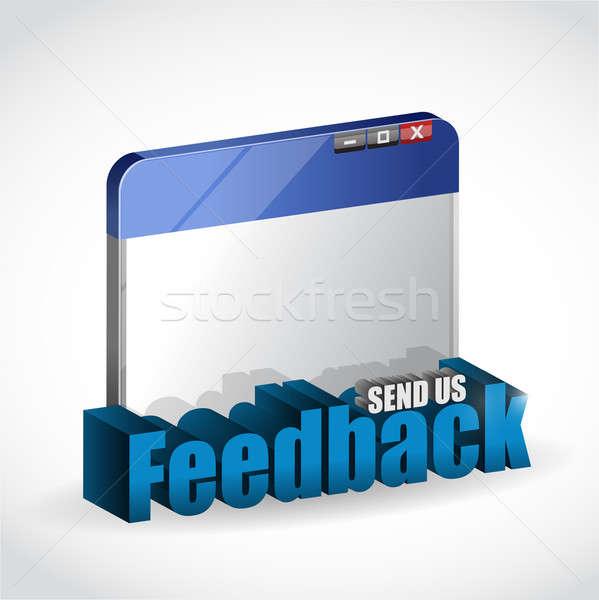 internet browser feedback 3d blue sign Stock photo © alexmillos
