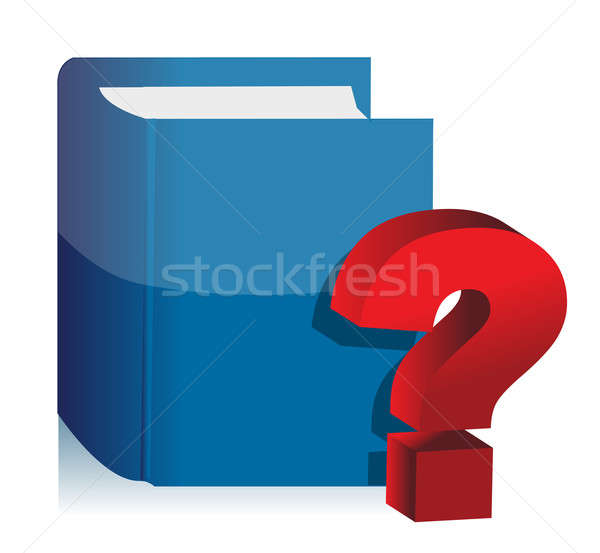 Stock photo: Question Book - unknown content illustration