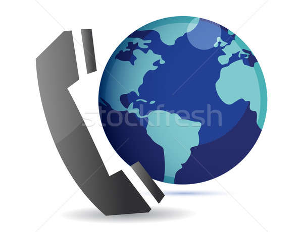 international calls illustration isolated over a white backgroun Stock photo © alexmillos