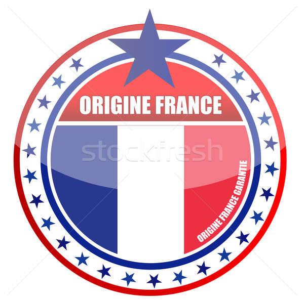Made in france illustration stamp design Stock photo © alexmillos