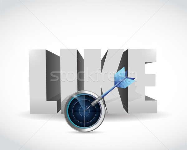 Target illustratie ontwerp witte dart vriendschap Stockfoto © alexmillos