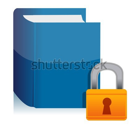 male symbol and lock illustration design over a white background Stock photo © alexmillos