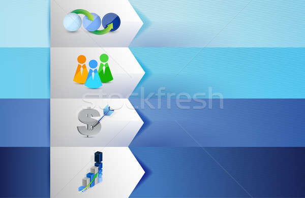 Business customizable blue texture Banners Stock photo © alexmillos