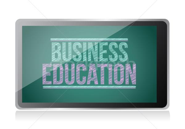 Business Education on display. tablet illustration design Stock photo © alexmillos