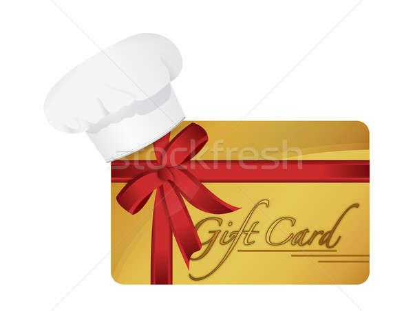 Restaurant Geschenkkarte Illustration Design weiß Business Stock foto © alexmillos