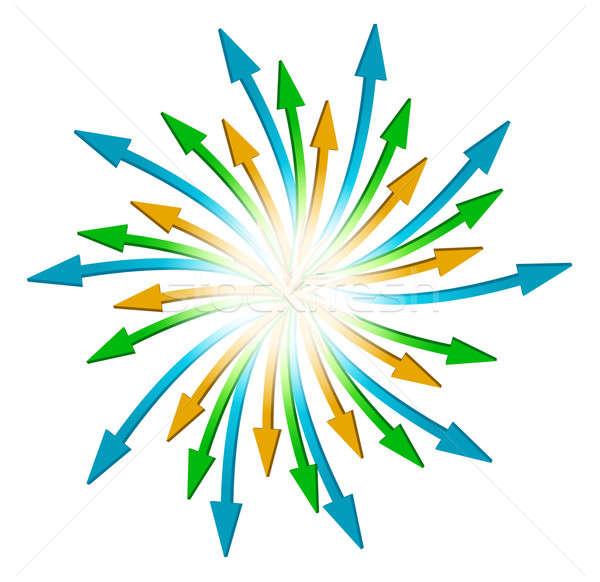 Сток-фото: круга · полный · Стрелки · иллюстрация · дизайна · белый