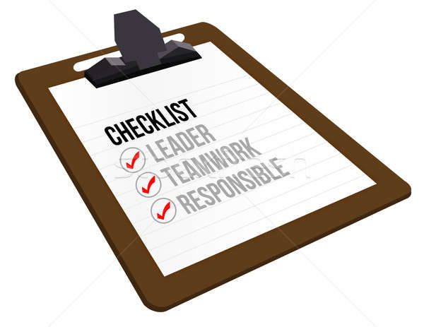 Business checklist clipboard  Stock photo © alexmillos