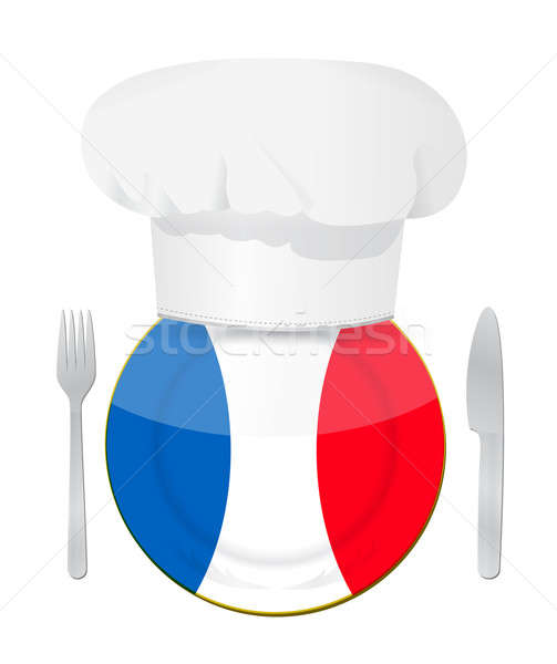 French cuisine concept illustration Stock photo © alexmillos