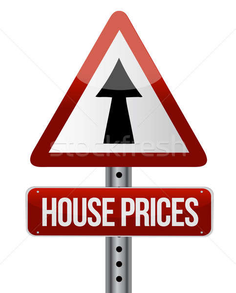 'house prices rise' sign  Stock photo © alexmillos