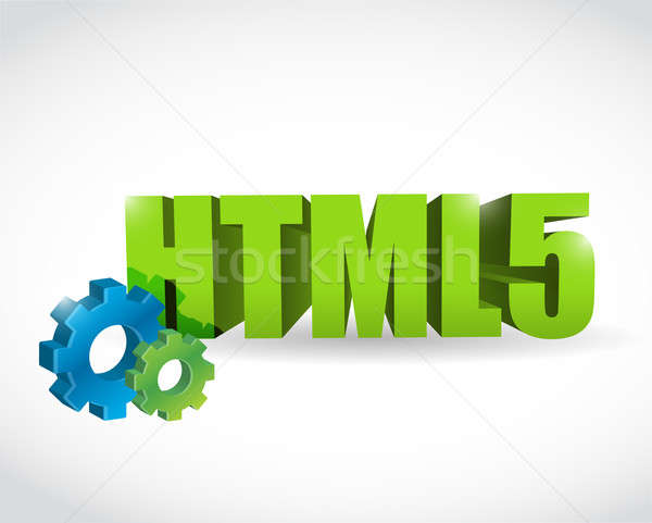 Html engins texte signe illustration design Photo stock © alexmillos