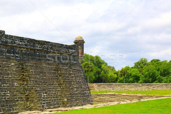 Florida ősi erőd pálma óceán utazás Stock fotó © alexmillos
