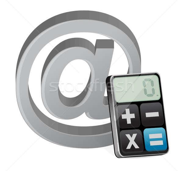 at sign and modern calculator Stock photo © alexmillos