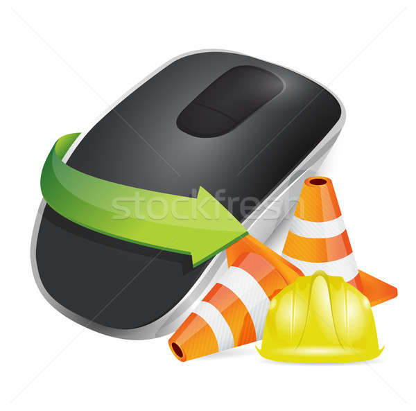 construction barrier Wireless computer mouse Stock photo © alexmillos