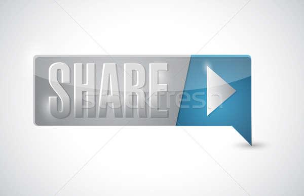 share button illustration design Stock photo © alexmillos
