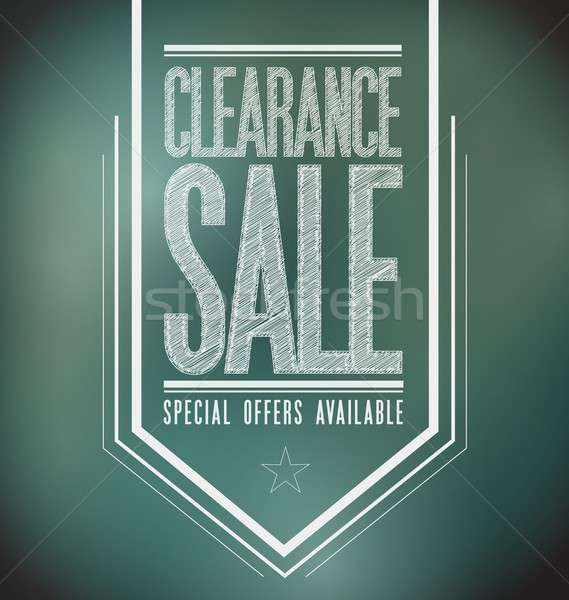 chalkboard clearance sale poster sign banner Stock photo © alexmillos