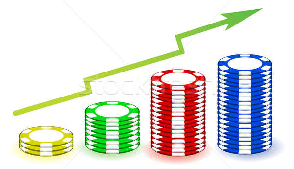 poker chips profits graph illustration Stock photo © alexmillos