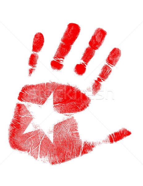 star handprint Stock photo © alexmillos