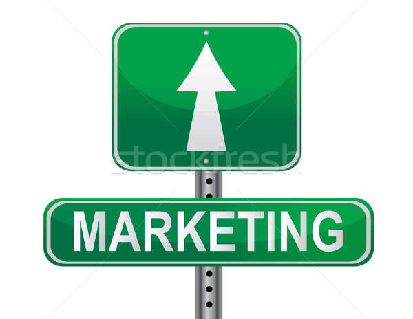Stock photo: Marketing Strategy sign.