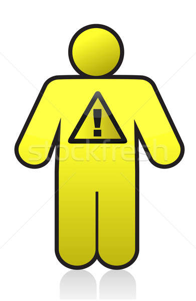 icon warning sign illustration design Stock photo © alexmillos