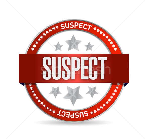 suspect seal illustration design over a white background Stock photo © alexmillos