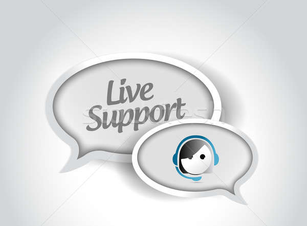 Yaşamak destek mesaj iletişim örnek dizayn Stok fotoğraf © alexmillos