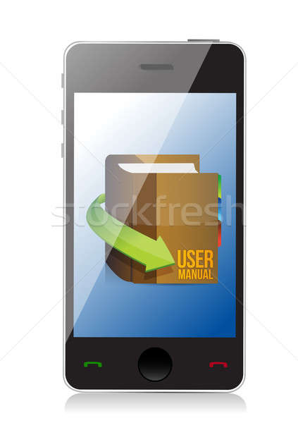 Online User guide, user manual book illustration design Stock photo © alexmillos