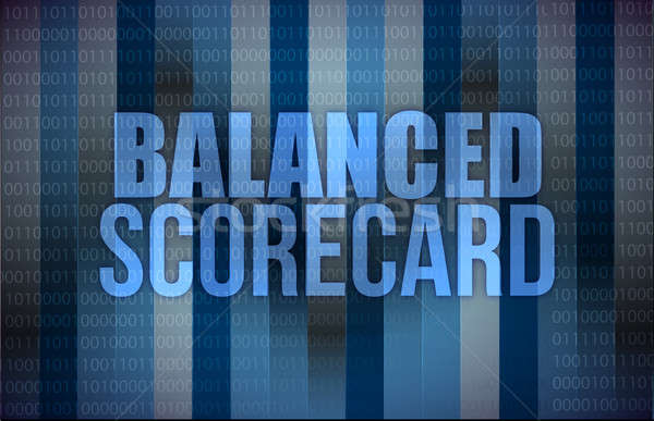 Stock photo: Balanced scorecard on digital screen, business