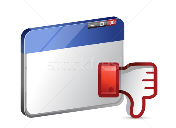 Dislike web site Icon. Thumb down Sign  Stock photo © alexmillos