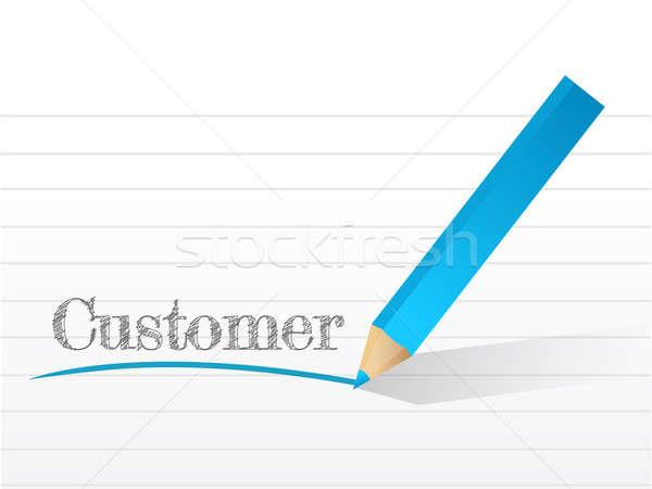 Cliente escrito bloc de notas ilustración negocios signo Foto stock © alexmillos