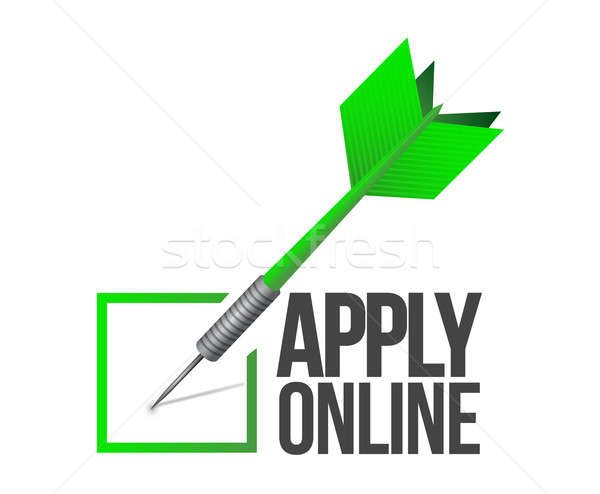 Apply online check mark dart illustration  Stock photo © alexmillos