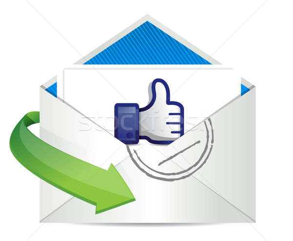 Good news mail, thumb up Stock photo © alexmillos