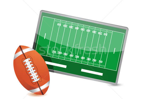 Football field tactic table, Football balls Stock photo © alexmillos