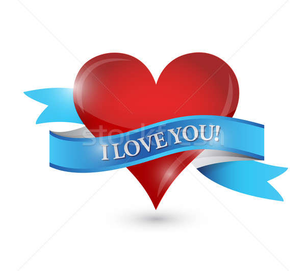 I love you heart illustration design  Stock photo © alexmillos