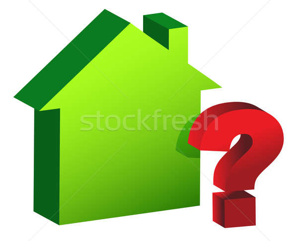 House with a checkmark illustration design Stock photo © alexmillos