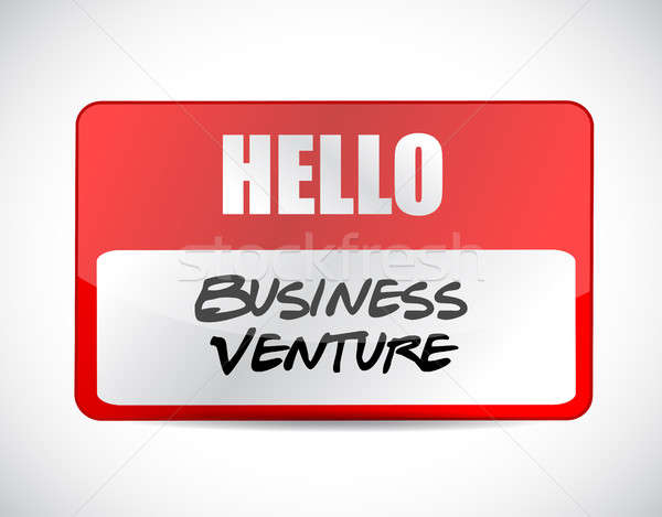 business venture name tag sign concept Stock photo © alexmillos