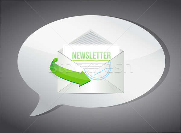 newsletter email information concept illustration Stock photo © alexmillos