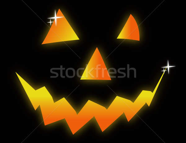 Halloween face symbol illustration design Stock photo © alexmillos