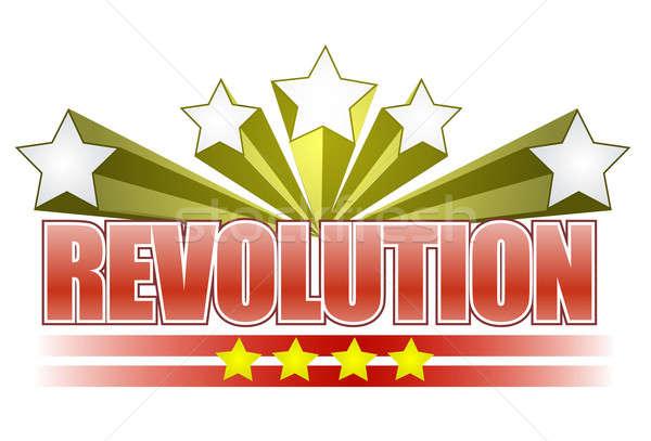 Revolutie Rood geschiedenis werknemers politiek clip Stockfoto © alexmillos