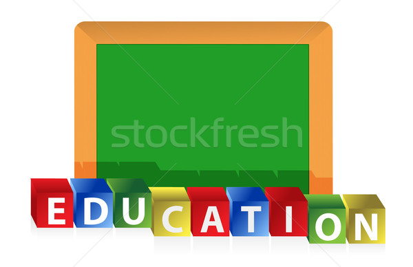 education concept illustration design over a white background de Stock photo © alexmillos