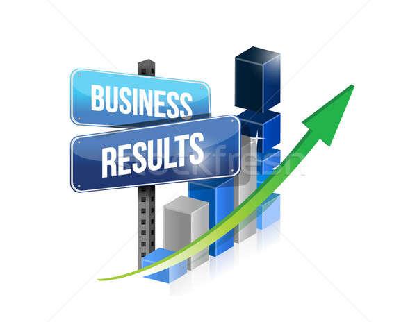Grafikon üzlet eredmények felirat illusztráció terv Stock fotó © alexmillos