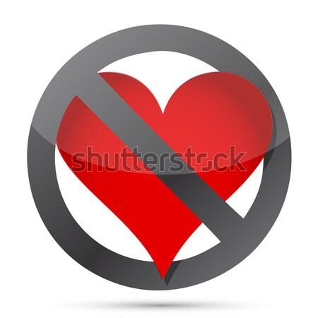 do not heart illustration design over white Stock photo © alexmillos