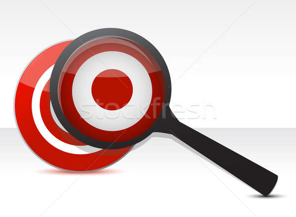 Defining The Target concept illustration design over a white bac Stock photo © alexmillos