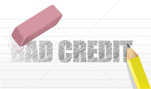 Złe kredytowej ilustracja projektu finansowych gumy Zdjęcia stock © alexmillos