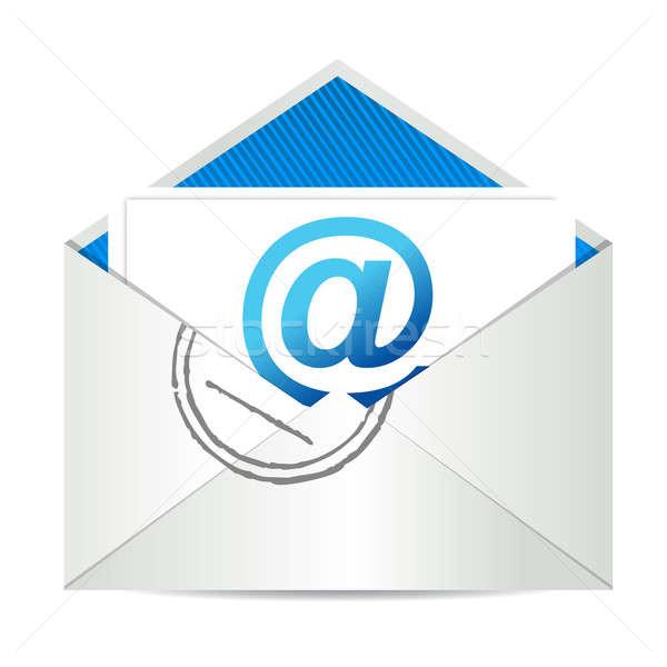 手紙 実例 グラフィックデザイン 白 インターネット ストックフォト © alexmillos